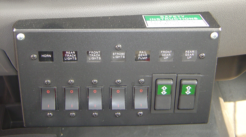RAIL GEAR CONTROLS