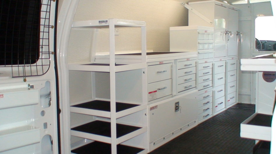 DRAWERS AND SHELVING